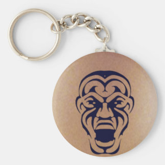 Tribal Face Tattoo Key Ring