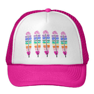 Tribal Feather Snapback. Cap