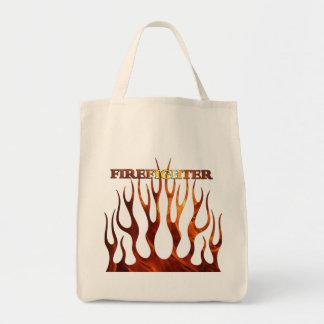 Tribal FF Flames Canvas Bags