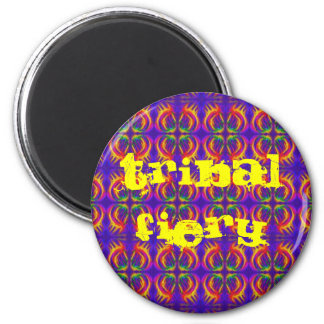 Tribal Fiery 6 Cm Round Magnet