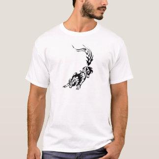 Tribal Fiery Wolf Pouncing.png T-Shirt
