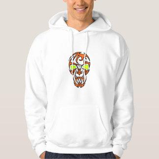 Tribal Fire Skull Hoodie