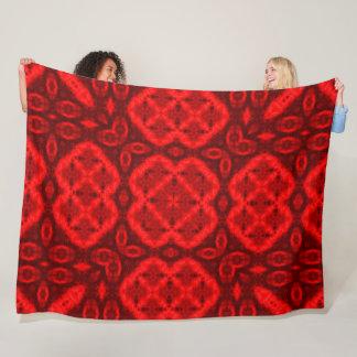 Tribal Fire Spirits Plush Mandala Medicine Quilt Fleece Blanket