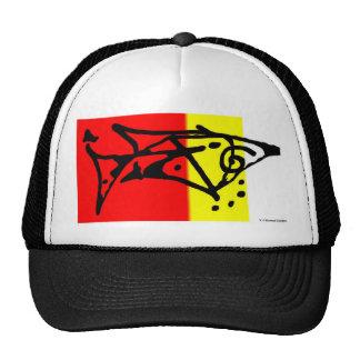 Tribal Fish Design Cap Mesh Hat
