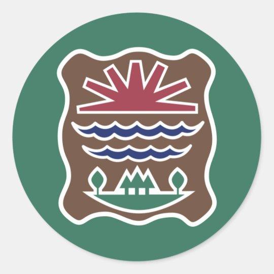 Tribal Flag of the Western Abenaki Nation Classic Round Sticker