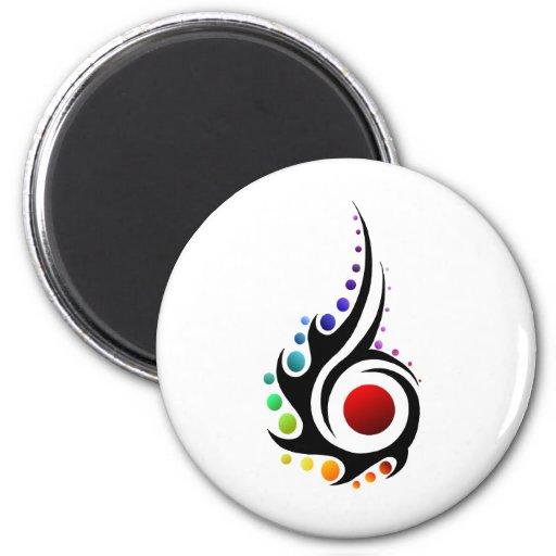 Tribal flame refrigerator magnet