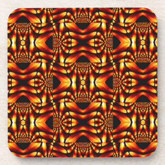 Tribal-Flavored Abstract Design Drink Coaster