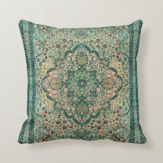 Tribal Floral Design Persian Carpet Motive Cushion