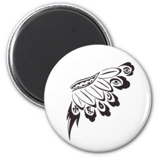 Tribal Floral Wing Refrigerator Magnets