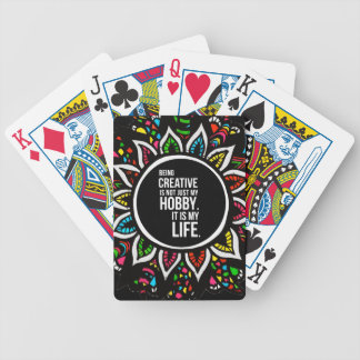 Tribal Flower with Text Bicycle Playing Cards