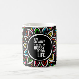 Tribal Flower with Text Coffee Mug