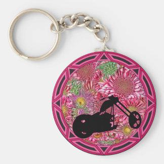 Tribal Flowers Chop Keychain