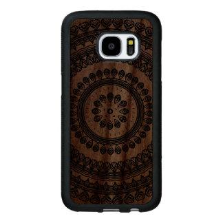 Tribal Folk Floral Ornamental Circle Ukrainian Wood Samsung Galaxy S7 Case