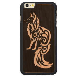 Tribal Fox Kitsune Carved Cherry iPhone 6 Plus Case