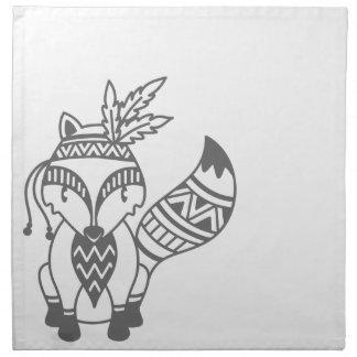 Tribal Fox Napkin