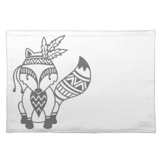Tribal Fox Placemat