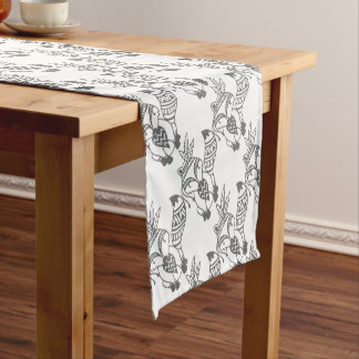Tribal Fox Short Table Runner