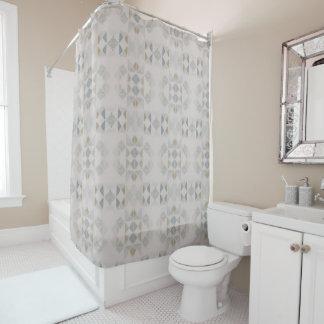 Tribal Fractals Shower Curtain