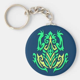 Tribal Frog key chain