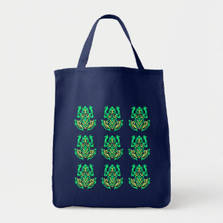 Tribal Frogs tote bag, customizable