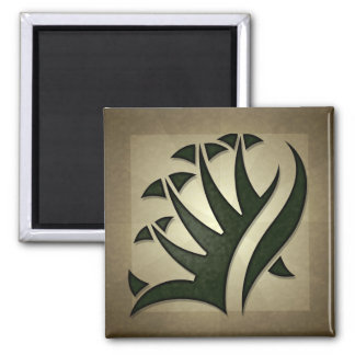 Tribal Frond Square Magnet