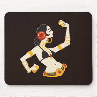 tribal fusion belly dancer with cymbals mouse mat