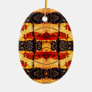 Tribal Fusion Ceramic Oval Decoration