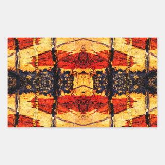 Tribal Fusion Rectangular Sticker