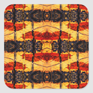 Tribal Fusion Square Sticker