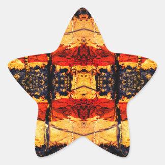 Tribal Fusion Star Sticker