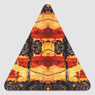 Tribal Fusion Triangle Sticker