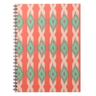 Tribal geometric diamond stripes Aztec pattern Notebook