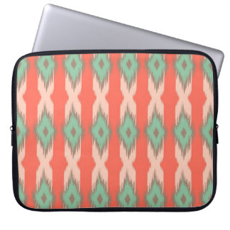 Tribal geometric ikat girly abstract Aztec pattern Laptop Sleeve