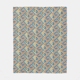 Tribal Geometric Peruvian Pretty Southwest Pattern Fleece Blanket