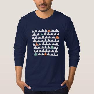 Tribal Geometric Triangles Aztec Andes Pattern Tshirt