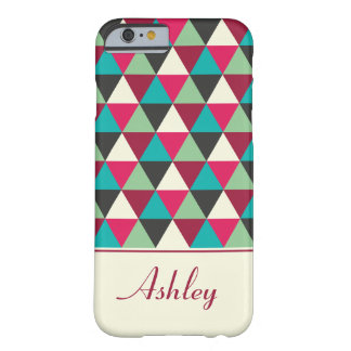 Tribal Geometric Triangles Pattern Personalized Barely There iPhone 6 Case