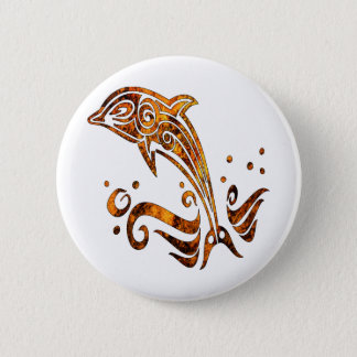 Tribal Grunge Tattoo Dolphin 6 Cm Round Badge