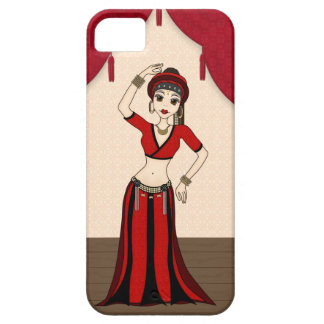 Tribal Gypsy Bellydancer in Red and Black Costume Barely There iPhone 5 Case