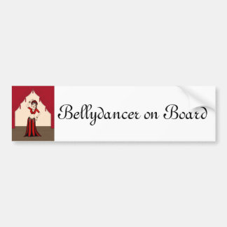 Tribal Gypsy Bellydancer in Red and Black Costume Bumper Sticker