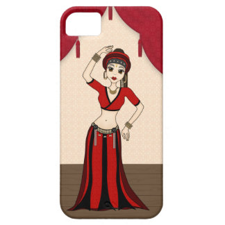 Tribal Gypsy Bellydancer in Red and Black Costume iPhone 5 Cover