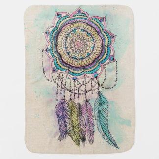 tribal hand paint dreamcatcher mandala design baby blanket