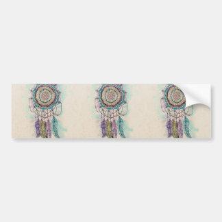 tribal hand paint dreamcatcher mandala design bumper sticker