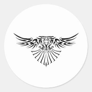 Tribal Hawk Tattoo Design Sticker