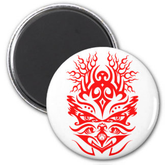 Tribal Head red Refrigerator Magnets