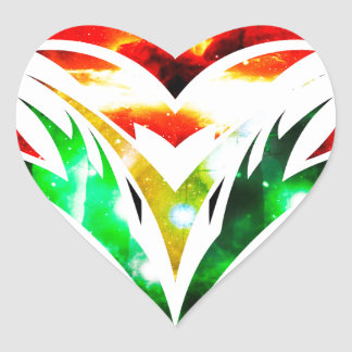 Tribal Heart Heart Sticker