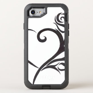 Tribal heart OtterBox defender iPhone 8/7 case