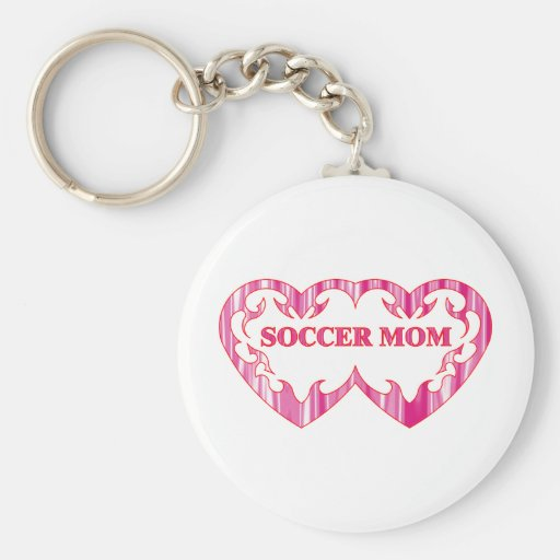 Tribal heart pair soccer mom keychain