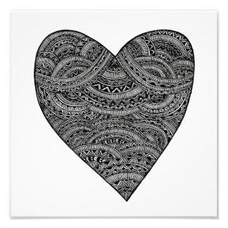 Tribal Heart Photographic Print