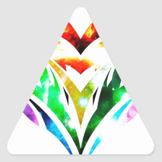 Tribal Heart Triangle Sticker