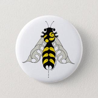 Tribal honey bee 6 cm round badge